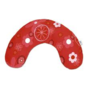 Theraline hoes retrobloem rood t.b.v. hoefijzerkussen met rits